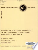 Anomalous Electrical Resistivity of Palladium-deuterium System Between 4.2 ̊and 300 ̊K