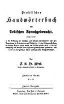 Praktisches Handwörterbuch des deutschen Sprachgebrauchs