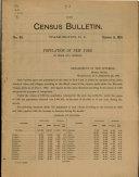 Census Bulletin