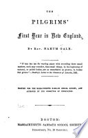 The Pilgrims  First Year in New England Book