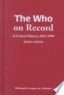 The Who On Record Book PDF