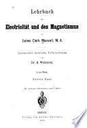 Lehrbuch der Electricität und des Magnetismus