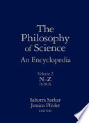 The Philosophy of Science: N-Z, Index