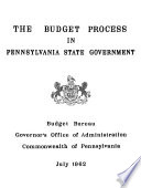The Budget Process in Pennsylvania State Government