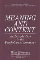 Meaning and Context [Pdf/ePub] eBook