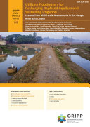 Utilizing floodwaters for recharging depleted aquifers and sustaining irrigation