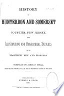 History Of Hunterdon And Somerset Counties New Jersey Book PDF