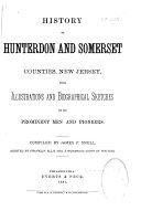 History of Hunterdon and Somerset Counties  New Jersey