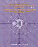 Student Solutions Manual to Accompany Elementary Differential Equations  Sixth Edition  and Elementary Differential Equations and Boundary Value Problems  Sixth Edition  by  William E  Boyce  Richard C  DiPrima