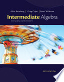 Intermediate Algebra  Everyday Explorations Book