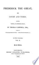 Frederick the Great  His Court and Times Book