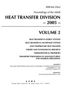 Proceedings Of The Asme Heat Transfer Division Book PDF