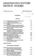 Nineteenth-century French Studies