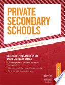 Private Secondary Schools  Traditional Day and Boarding Schools Book PDF