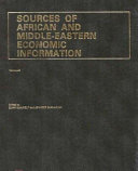 Sources Of African And Middle Eastern Economic Information