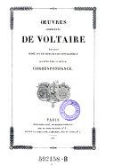 Oeuvres complètes de Voltaire : Correspondance