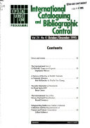 International Cataloguing and Bibliographic Control