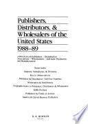 Publishers, Distributors and Wholesalers of the United States, 1988-1989