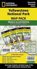 National Geographic Yellowstone National Park Map Pack Bundle