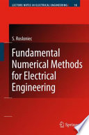 Fundamental Numerical Methods for Electrical Engineering Book