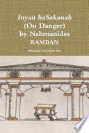 Inyan Hasakanah On Danger By Nahmanides Ramban