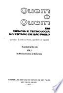 Quem é quem em ciência e tecnologia no Estado de São Paulo, portadores de título de doutor, equivalente ou superior