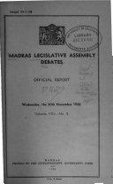 Madras Legislative Assembly Debates Official Report