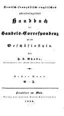 Deutsch-französisch-englisches Handbuch der Handels-Correspondenz und des Geschäftsstyls