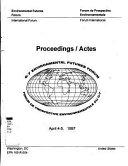 Proceedings   Actes  G 7 Environmental Futures Forum Book