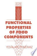 Functional Properties Of Food Components Book PDF
