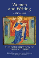 Women and Writing, C.1340-c.1650