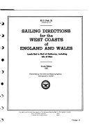 Sailing Directions for the West Coasts of England and Wales