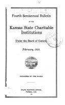 Bulletin of the Kansas State Charitable Institutions Under the Board of Control Book