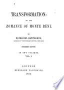 Transformation  Or  The Romance of Monte Beni