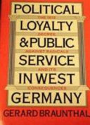 Political Loyalty and Public Service in West Germany