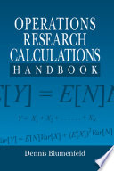 Operations Research Calculations Handbook