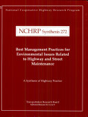 Best Management Practices for Environmental Issues Related to Highway and Street Maintenance