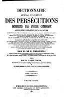 Encyclopédie théologique: Dictionnaire général et complet des persécutions souffertes par l'église