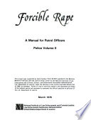 Forcible Rape  A manual for patrol officers