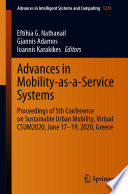 Advances In Mobility As A Service Systems Book PDF
