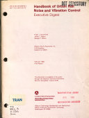 Handbook of Urban Rail Noise and Vibration Control Book