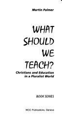 What Should We Teach