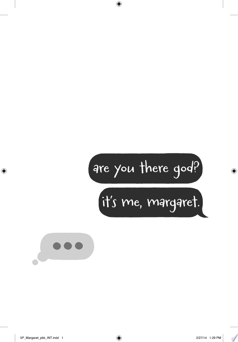 Are You There God? It's Me, Margaret. image