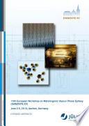 15th European Workshop on Metalorganic Vapour Phase Epitaxy (EWMOVPE XV) June 2-5, 2013, Aachen, Germany
