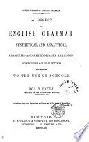 Covell S Digest Of English Grammar