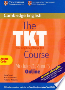 The TKT Course Modules 1, 2 and 3 Online Passcode