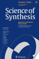 Science of Synthesis  Houben Weyl Methods of Molecular Transformations Vol  16