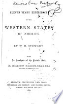 Eleven Years Experience In The Western States Of America Book PDF