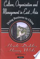 Culture Organization And Management In East Asia Book PDF