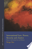 International Law Power Security And Justice